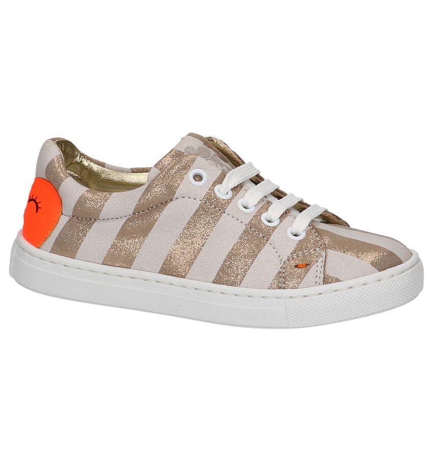 Beige Lage Geklede Sneakers Rondinella