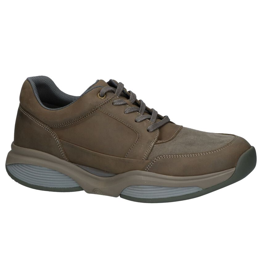 Xsensible Taupe Veterschoenen