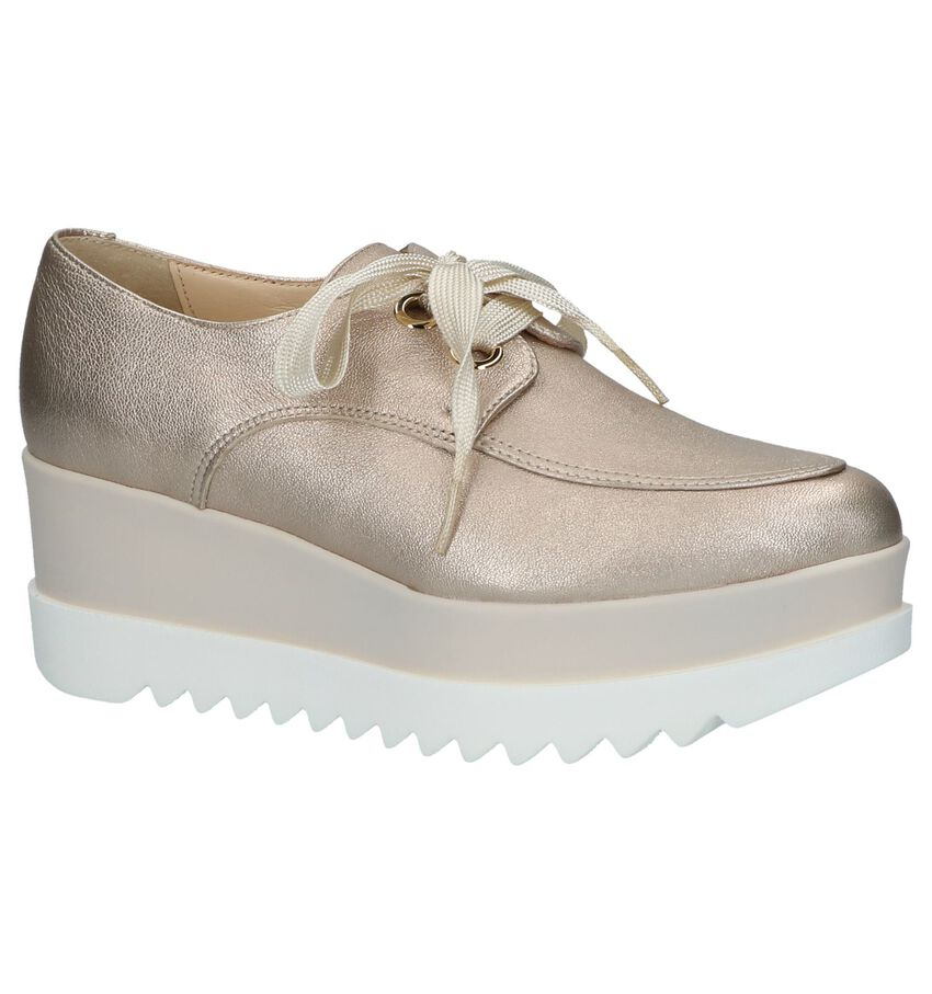 Louisa Rose Gold Veterschoenen Plateau