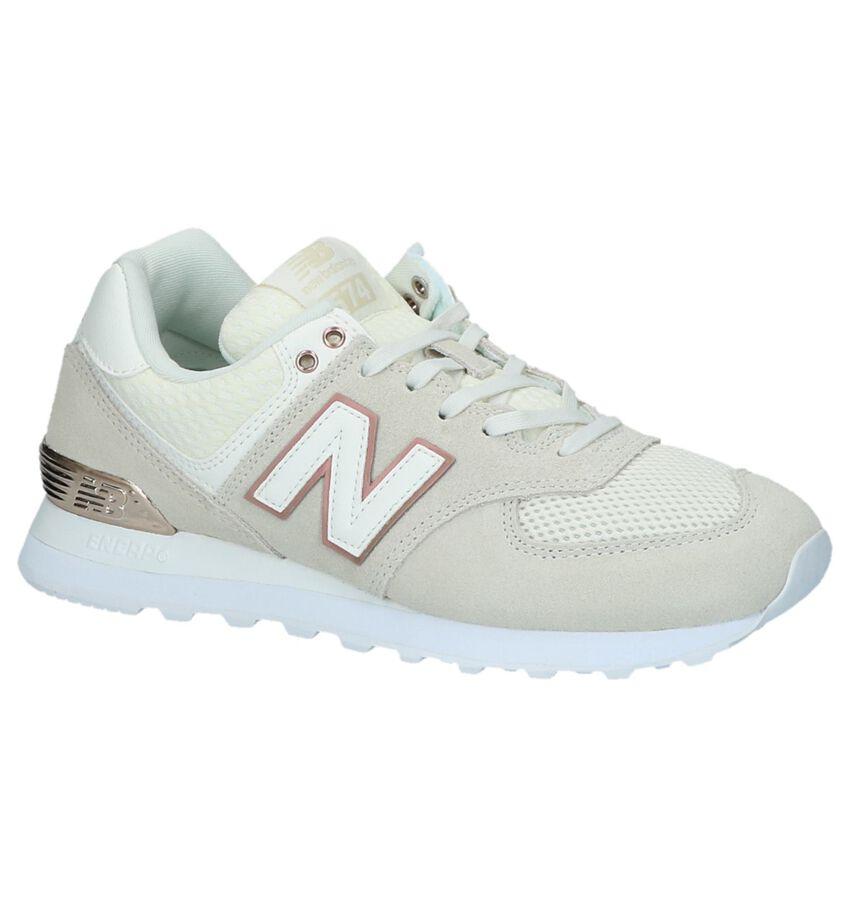 New Balance WL574 Beige Sneakers