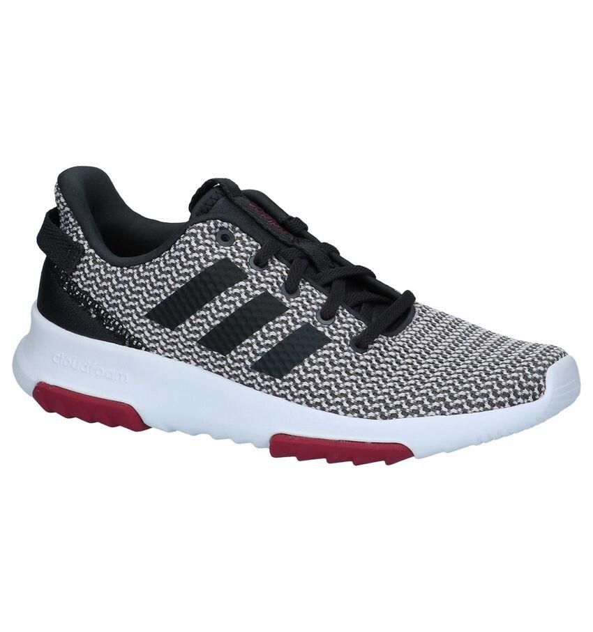 Grijze Runner Sneakers Adidas Cloudfoam Racer
