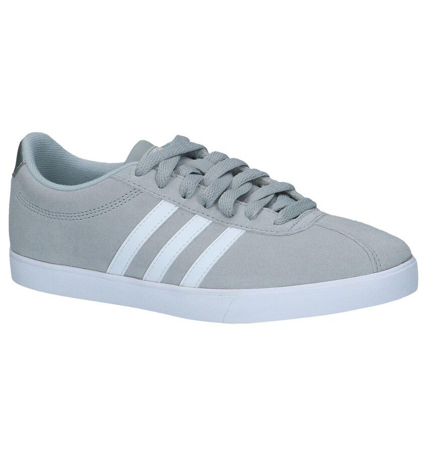 Grijze Lage Sportieve Sneakers Adidas Courtset