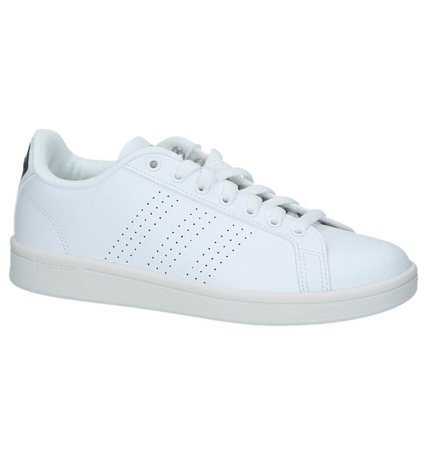 Witte Lage Sportieve Sneakers Adidas CF Advantage Clean