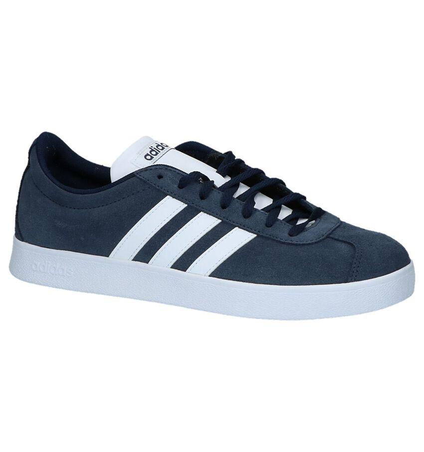 Blauwe Adidas VL Court Sneakers