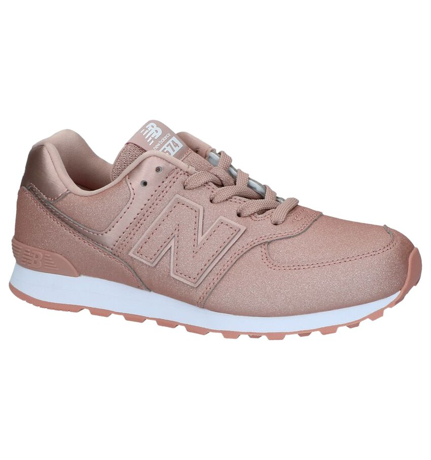 Rose Gold Lage Sportieve Sneakers met Glitter New Balance GC 574