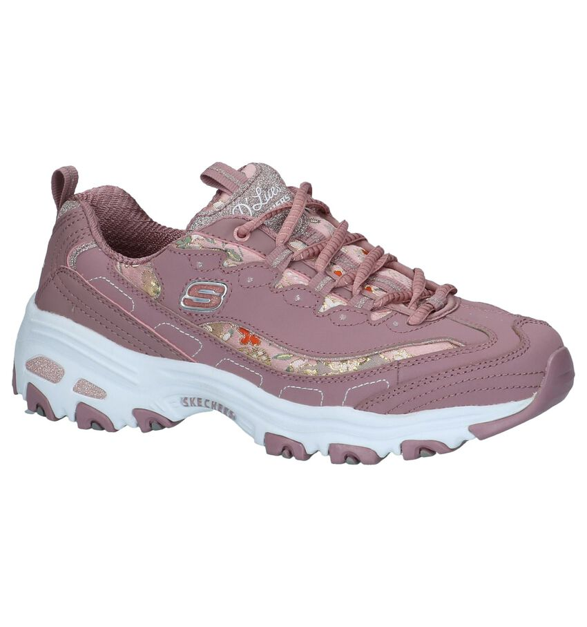 Skechers D'Lites Donkerroze Sneakers
