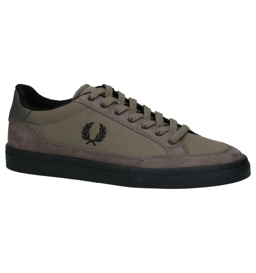Donker Groene Sneakers Fred Perry