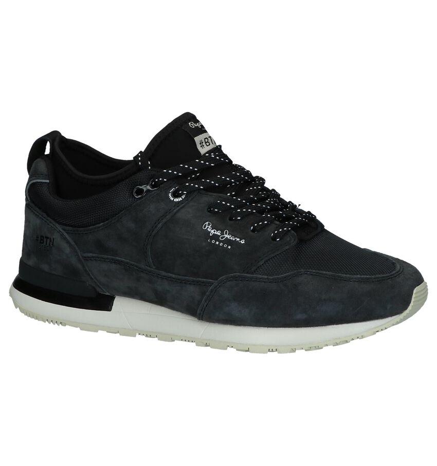 Pepe Jeans Donkergrijze Slip-on Sneakers
