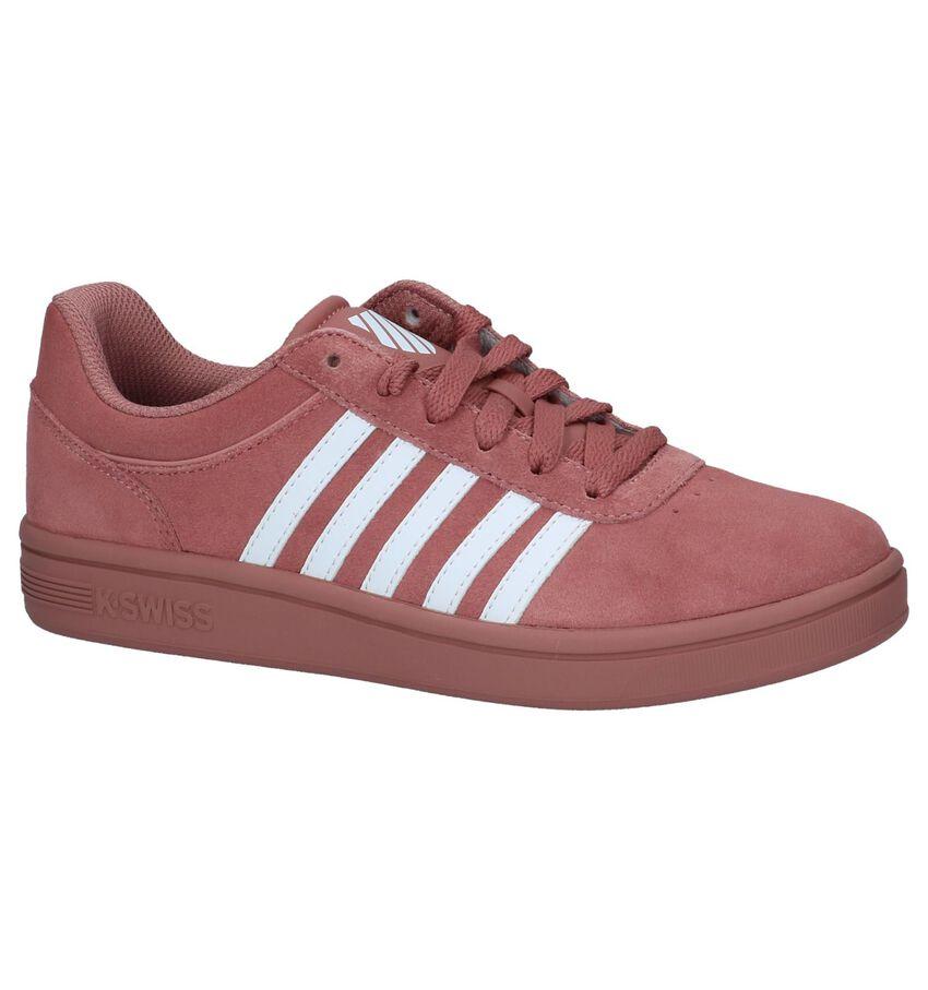 K-Swiss Court Cheswick Donkerroze Sneakers