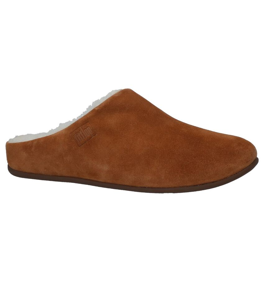 Cognac Pantoffels FitFlop Chrissie Shearling
