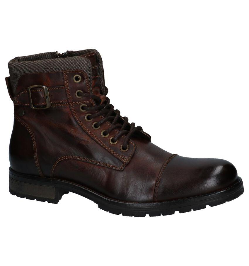 Donker Bruine Boots met Rits/Veter Jack & Jones