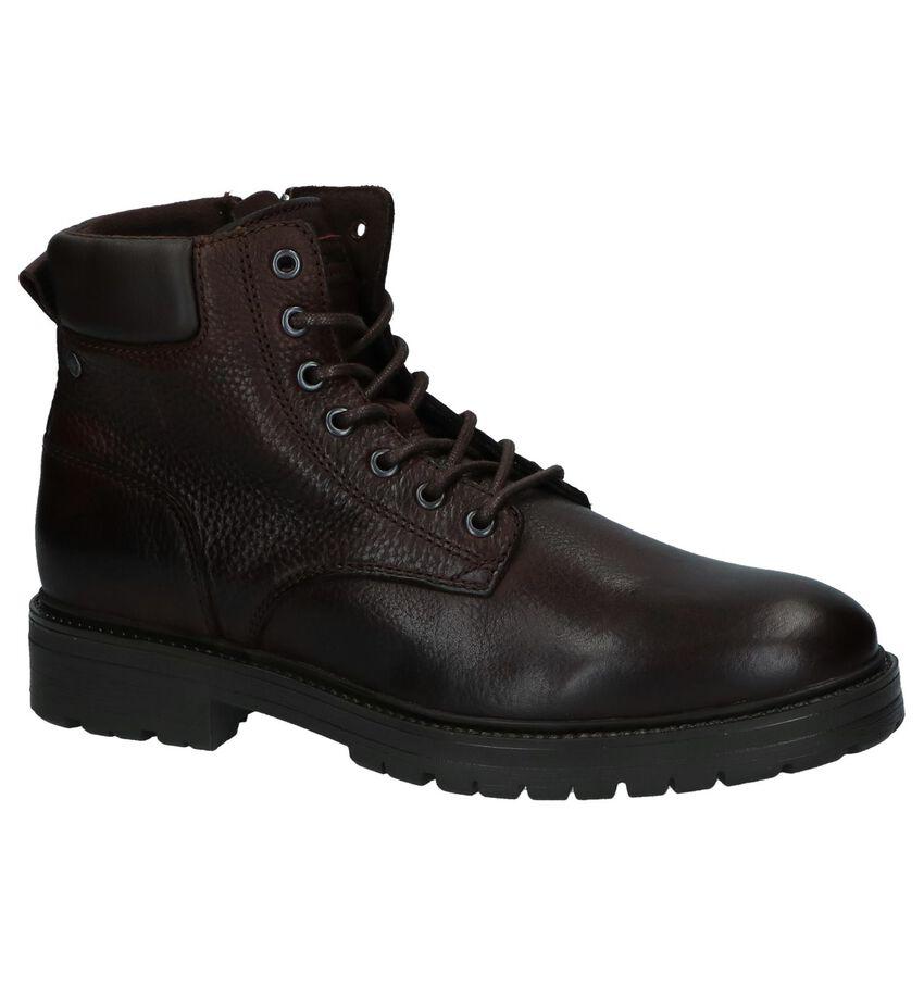 Donkerbruine Boots met Rits/Veter Jack & Jones