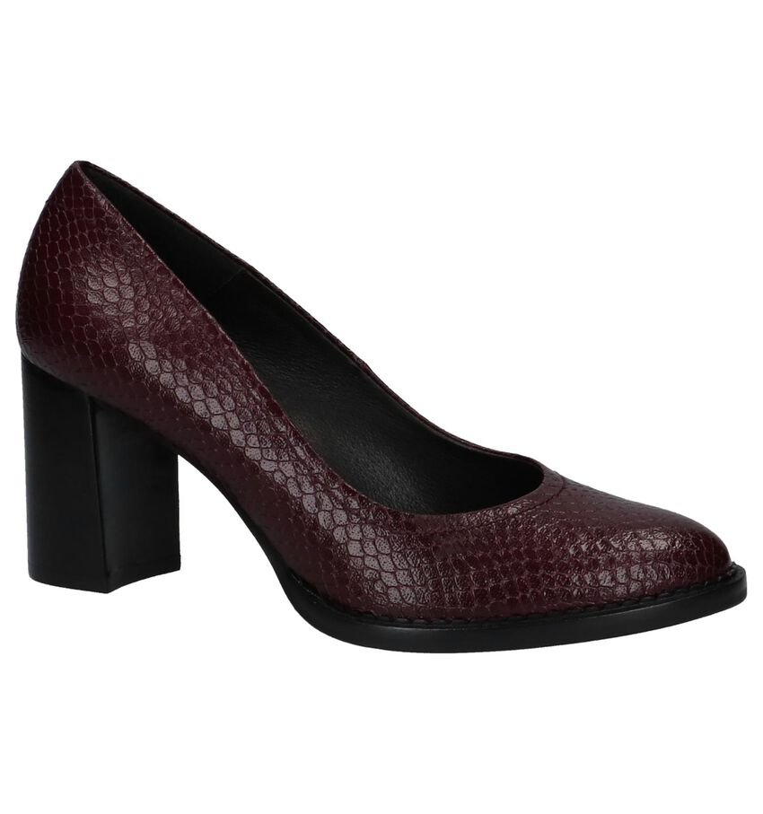 Bordeaux Pumps met Slangenprint Zinda