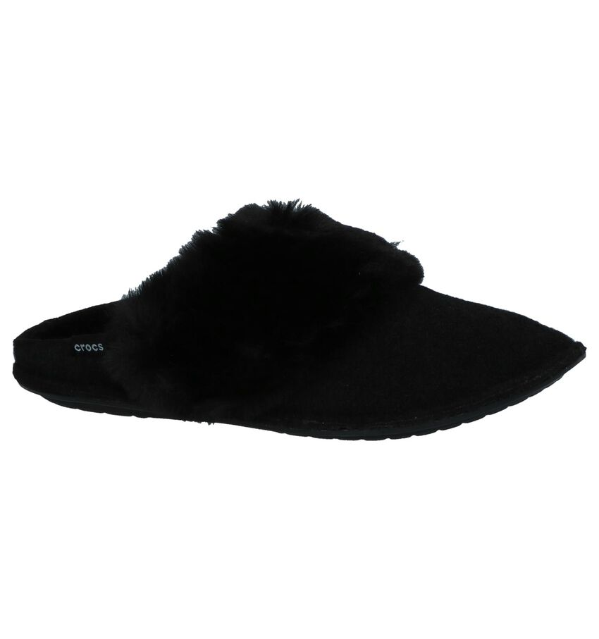 Crocs Classic Luxe Zwarte Pantoffels