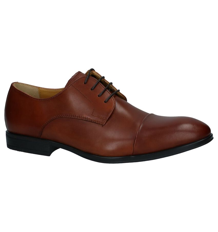Steptronic Franco Cognac Nette Veterschoenen