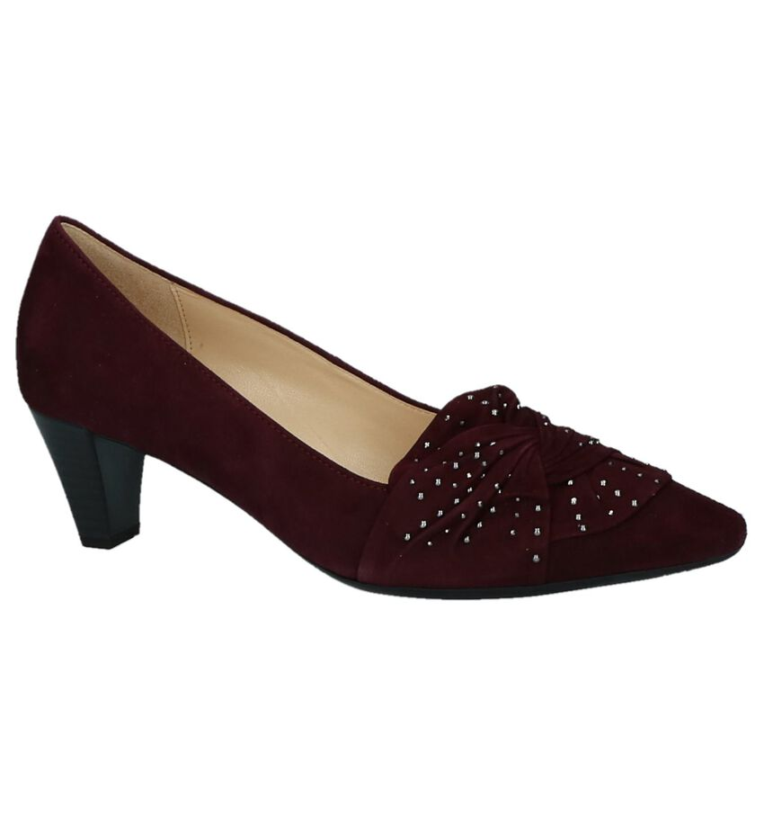 Bordeaux Gabor Pumps met Studs