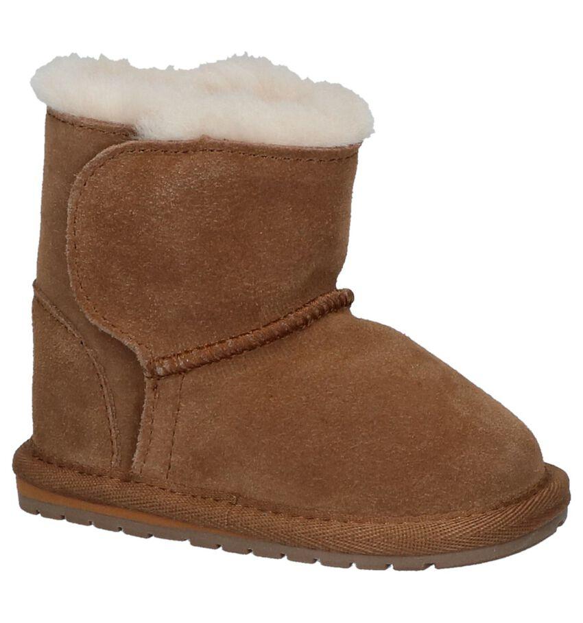 EMU Toddle Cognac Boots met Klittenband