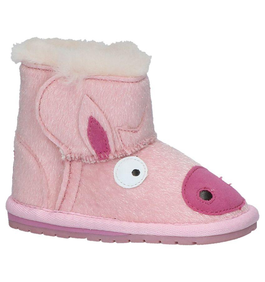 EMU Piggy Walker Lichtroze Boots met Klittenband