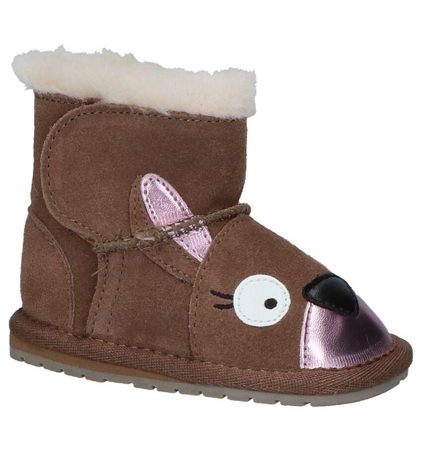 EMU Bruine Boots met Klittenband