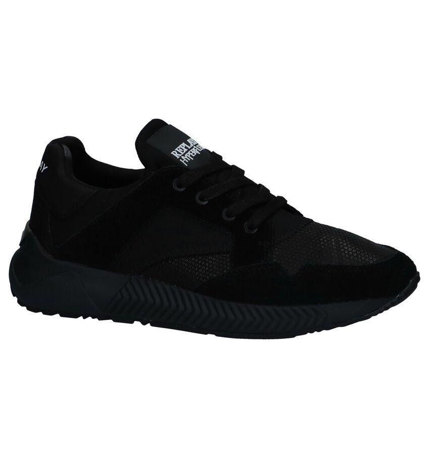 Zwarte Slip-on Sneakers Replay