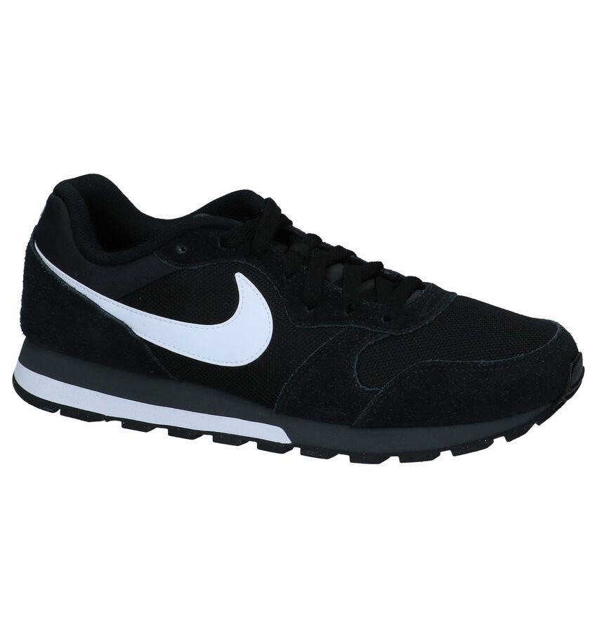 Zwarte Nike MD Runner 2 Lage Sneakers