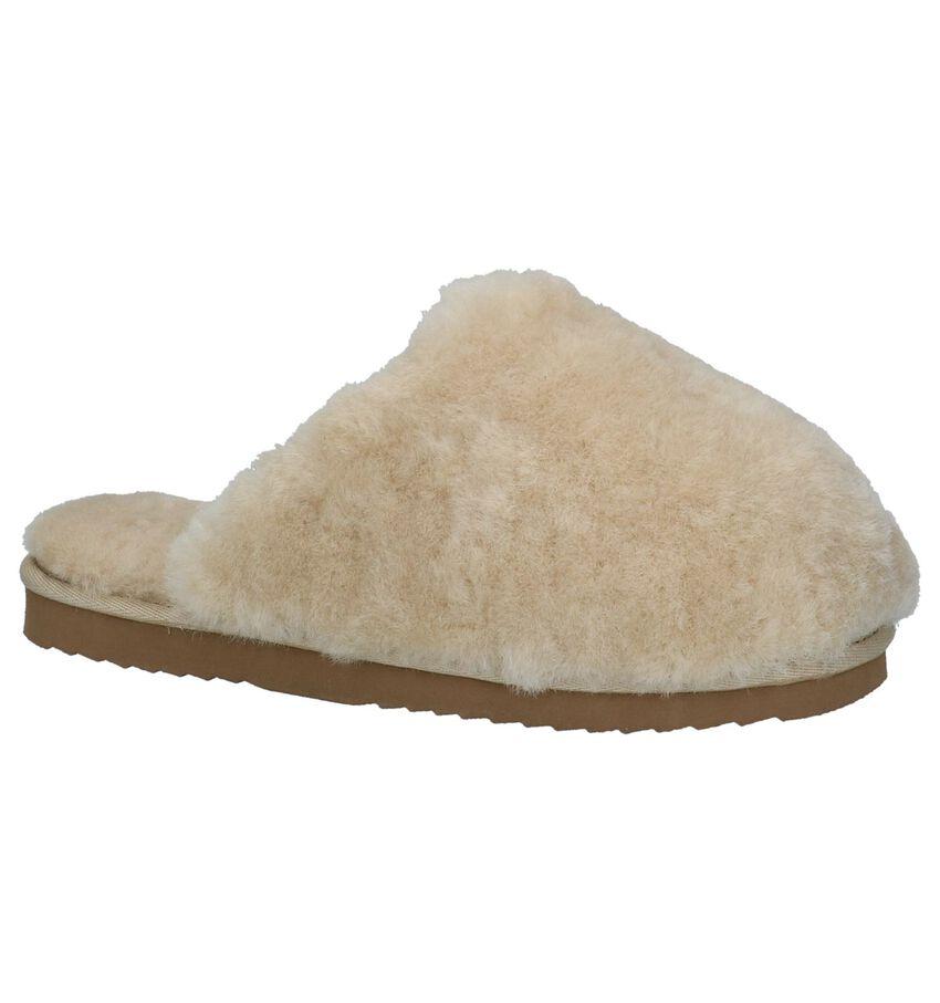 Licht Beige Pantoffels Warmbat Mungo