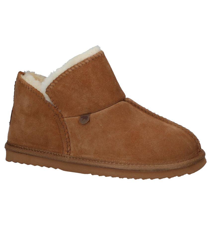 Cognac Pantoffels Warmbat Willow