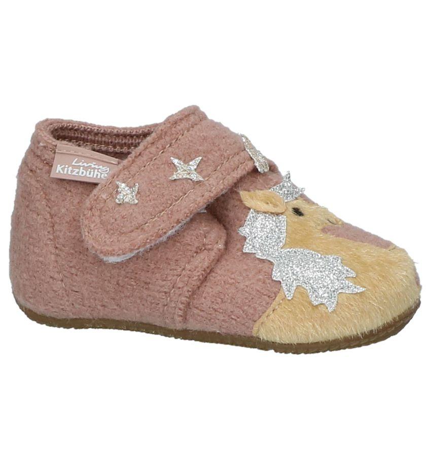 Roze Babypantoffeltjes met Steentjes Living Kitzbühel