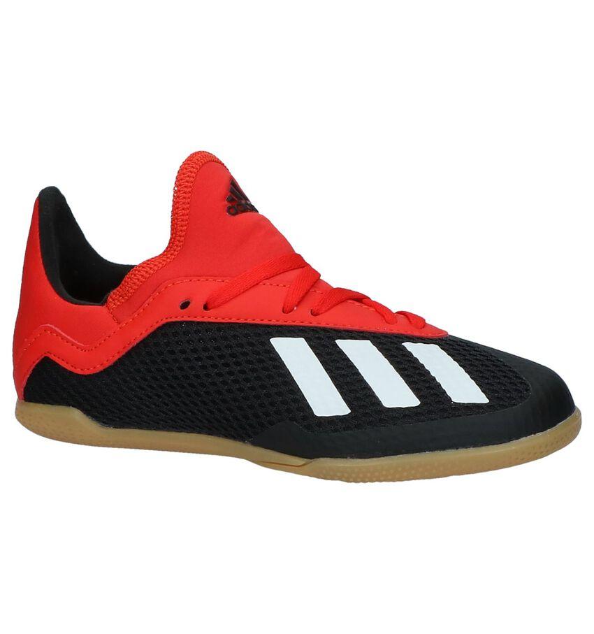 Rood-Zwarte Sportschoenen adidas X 18.3 IN