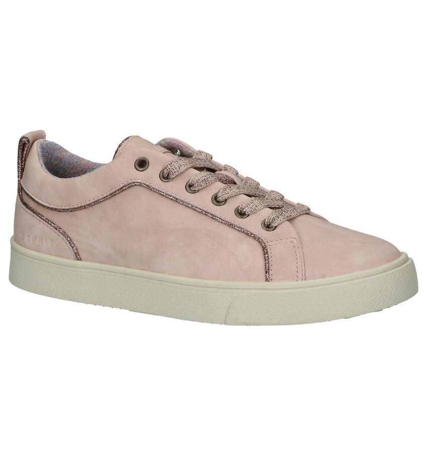 Esprit Roze Geklede Sneakers Vegan