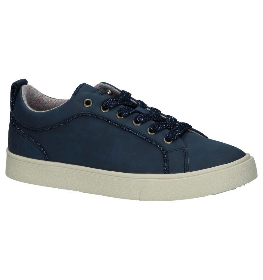 Esprit Donkerblauwe Geklede Sneakers Vegan
