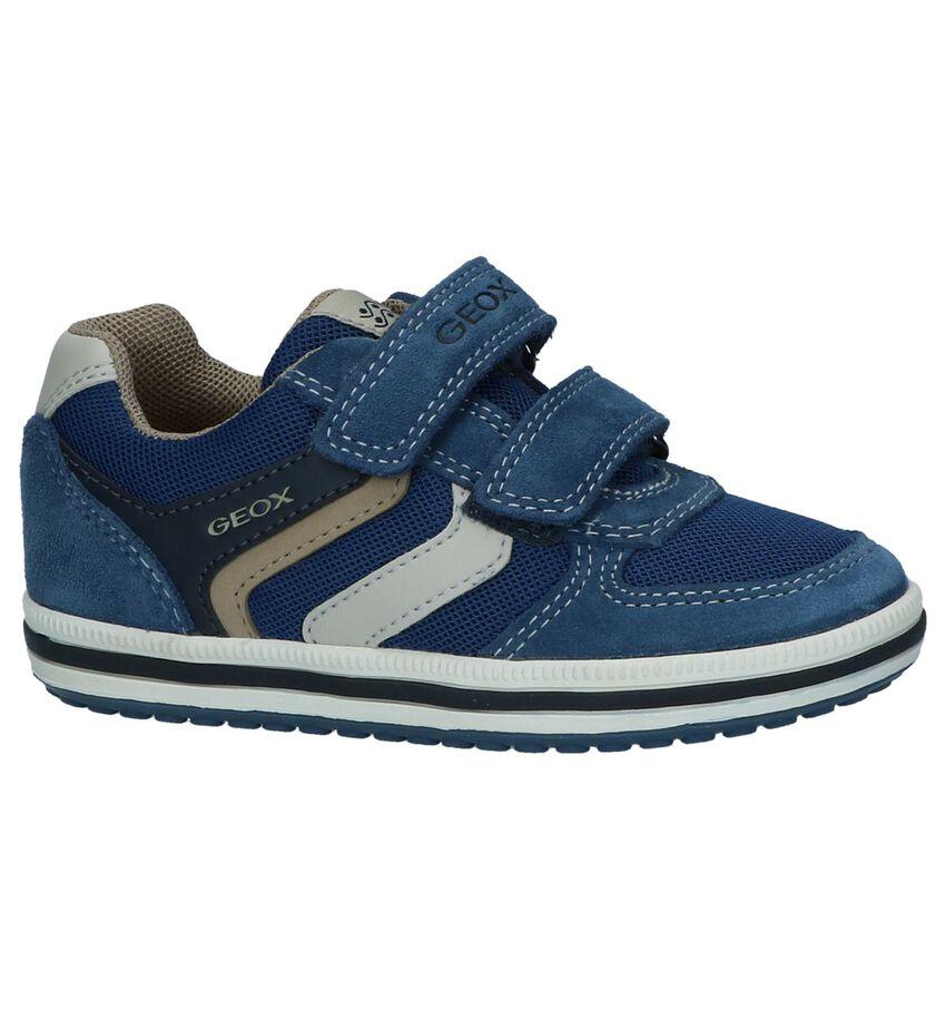 Blauwe Klittenbandschoenen Geox