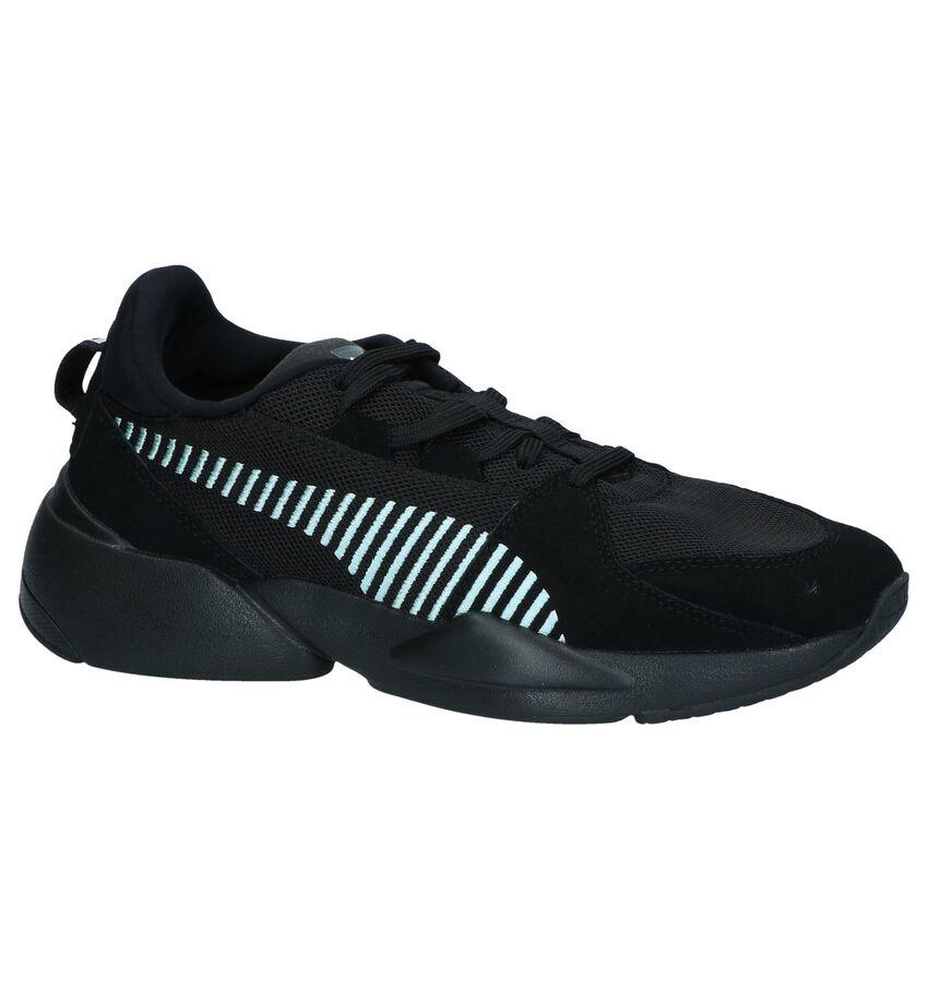Zwarte Sneakers Puma Zeta Suede