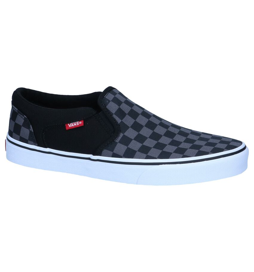 Zwarte Slip-on Sneakers Vans Asher