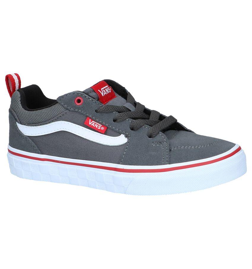72f4ebc7ecaa4e Aanbieding  Skateschoenen Vans Filmore Suede Canvas Black White ...