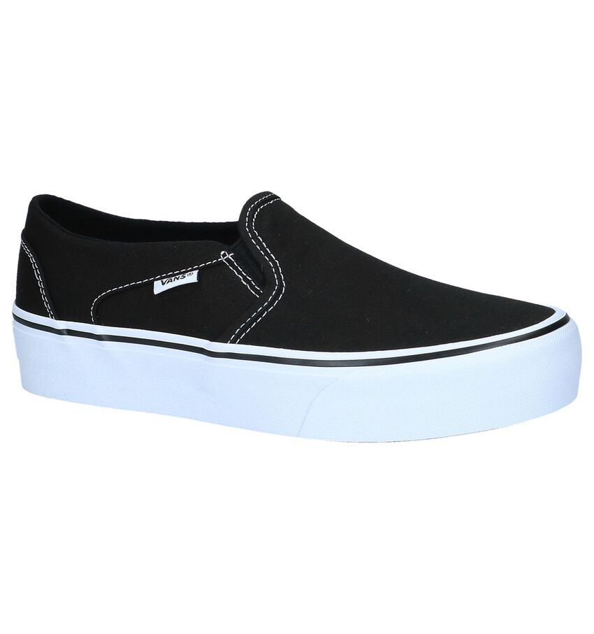 Zwarte Slip-On Sneakers Vans Asher Platform