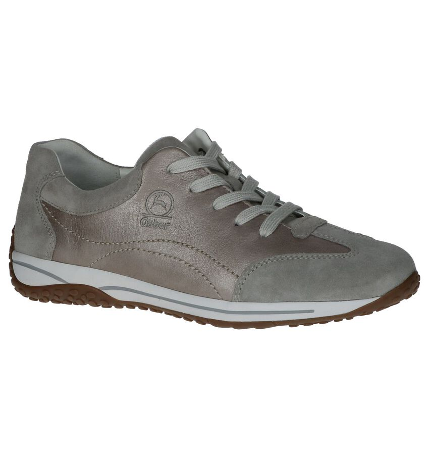 Gabor Optifit Veterschoenen Taupe Metallic