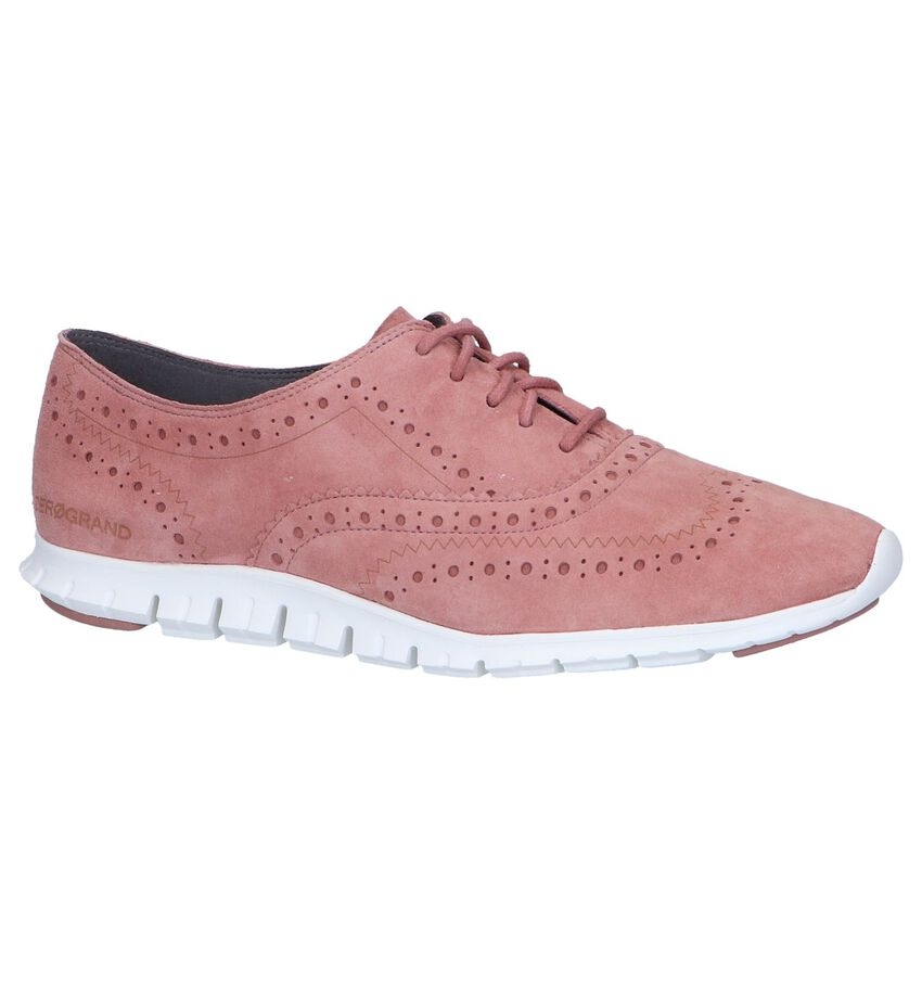 Donkerroze Oxford Veterschoenen Cole Haan Zerogrand