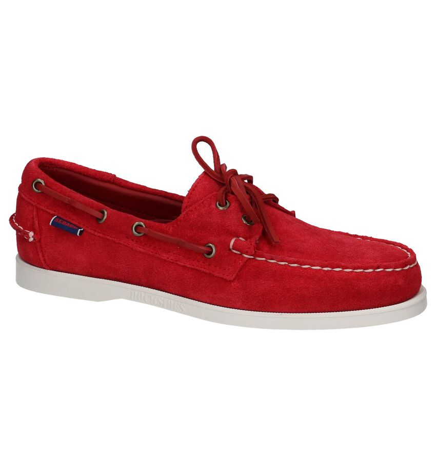 Rode Bootschoenen Sebago Dockside