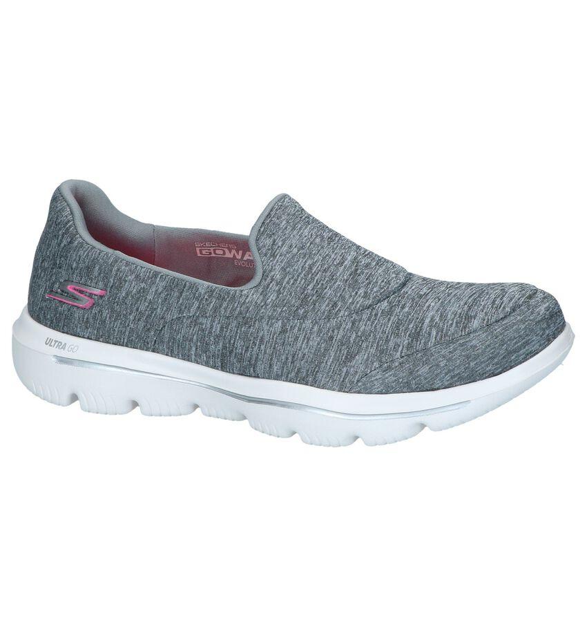 Grijze Slip-on Sneakers Skechers Go Walk Evolution