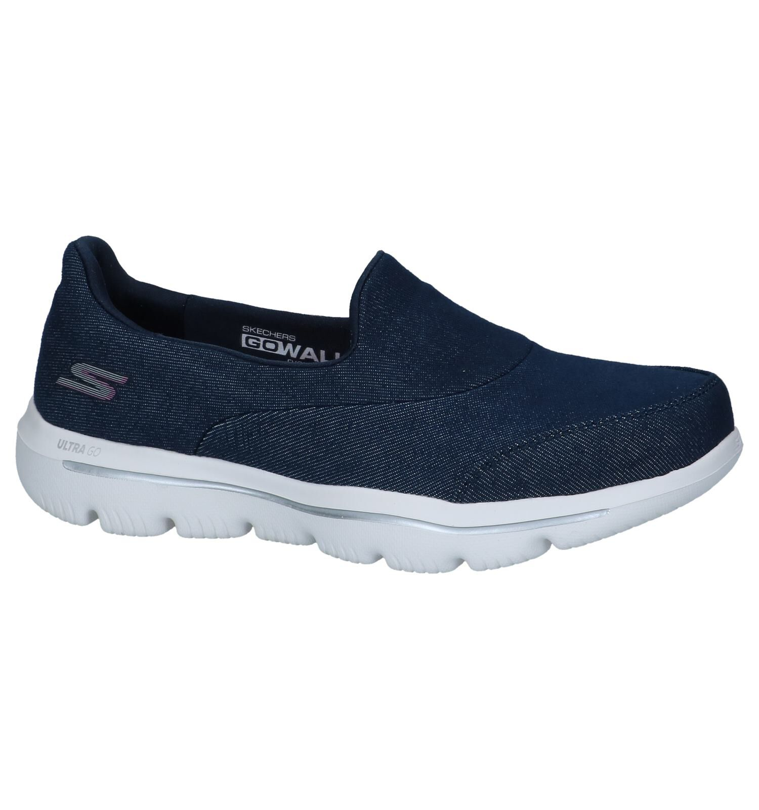 SKECHERS Womens GOwalk 3 Creation Slip On Trainers NavyBlue