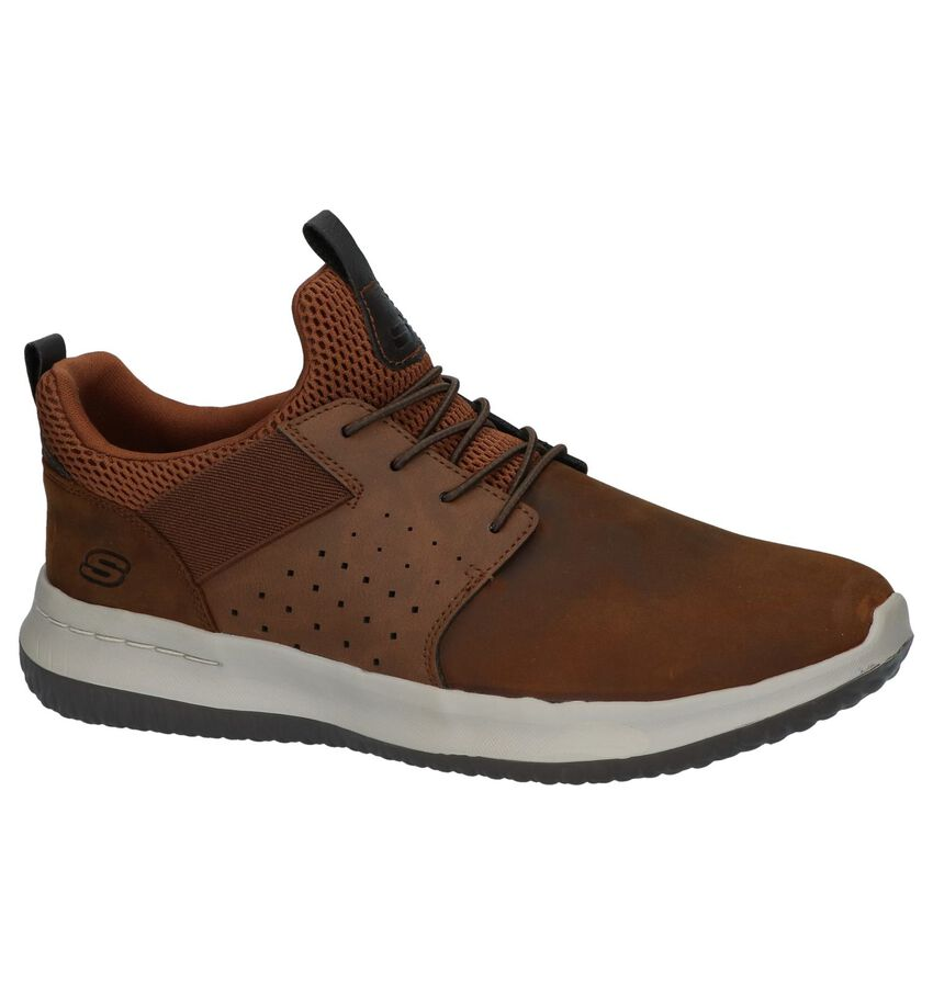 Donkerbruine Slip-on Sneakers Skechers Delson Axton