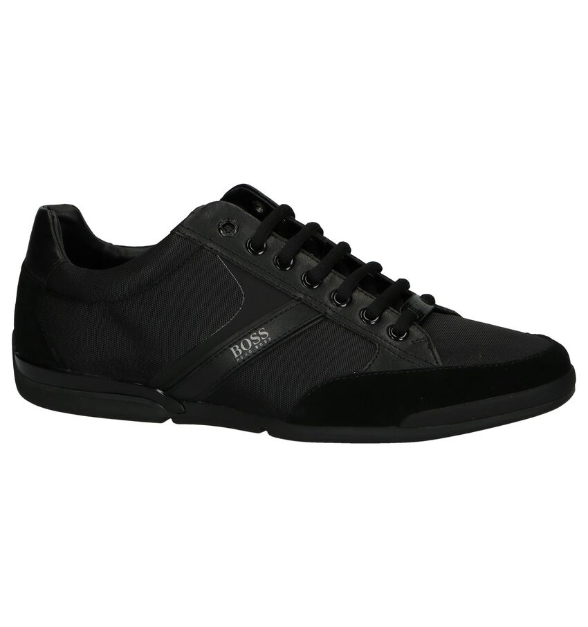 Zwarte Casual Veterschoenen Hugo Boss Saturn