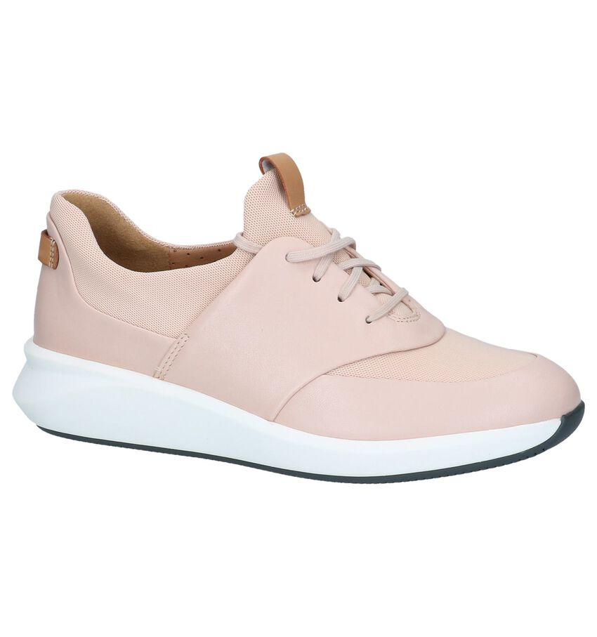 Roze Veterschoenen Unstructured by Clarks