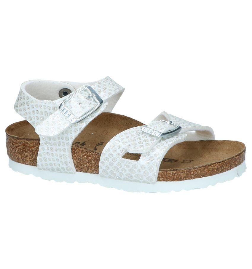 Witte Sandalen Birkenstock Rio