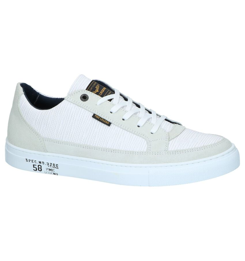 Witte Casual Veterschoenen PME Legend Trim
