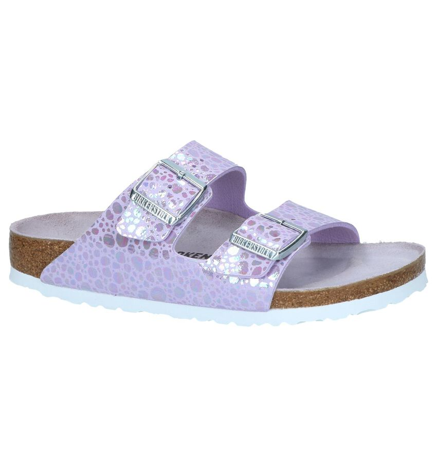 Lichtpaarse Slippers Birkenstock Arizona