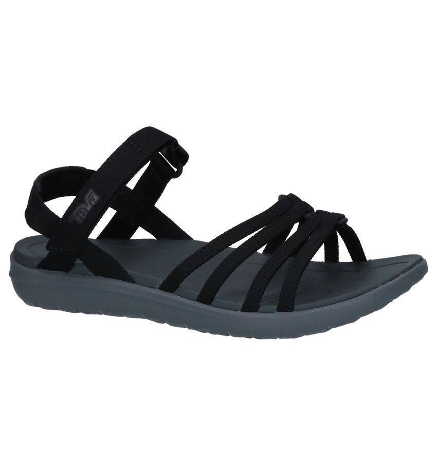 Zwarte Sandalen Teven Sanborn Cota