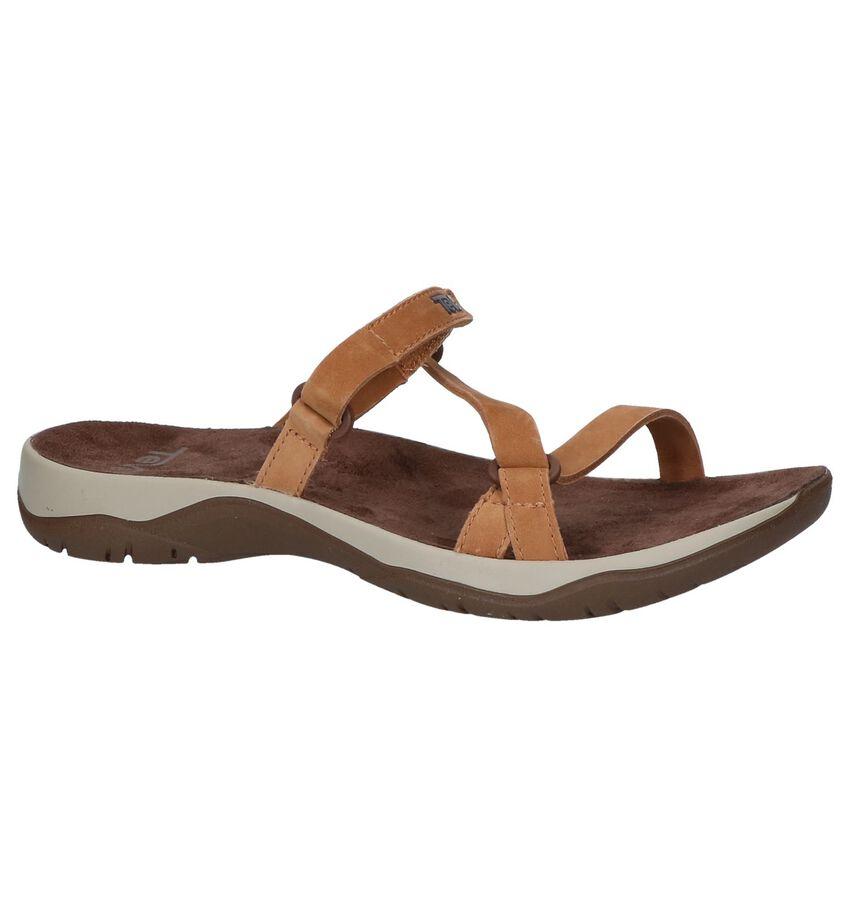 Cognac Slippers Teva Elzada Slide Leather