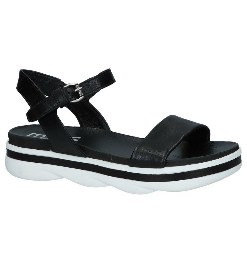 Zwarte Sandalen Mjus